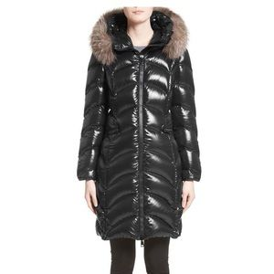 Moncler Albizia Down Coat with Genuine Fox Fur